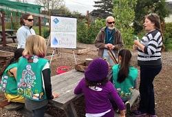Joe M. with girl scouts